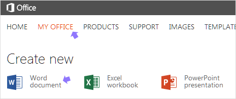 online office account for new office files