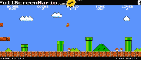 Play super mario game online in web browser