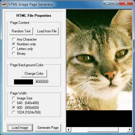 image to html text page converter software