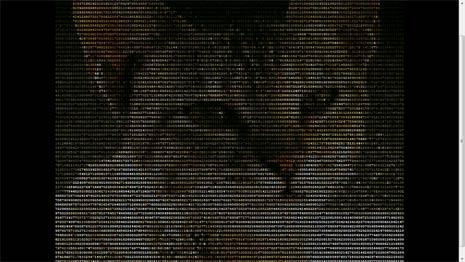 acii binary characters image html webpage