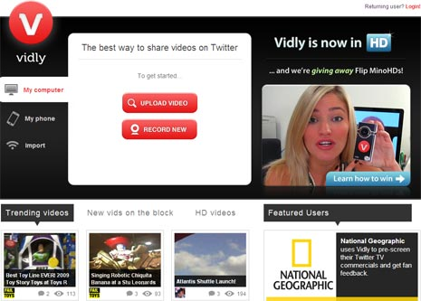 vidly-twitter-videos