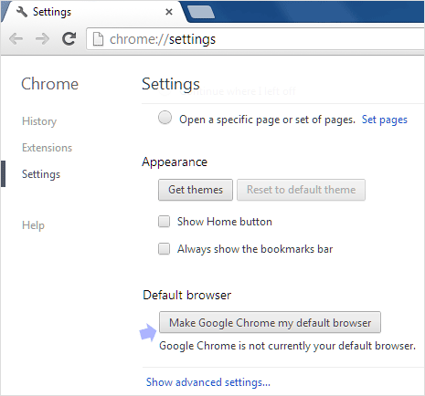google-chrome-default-browser-option
