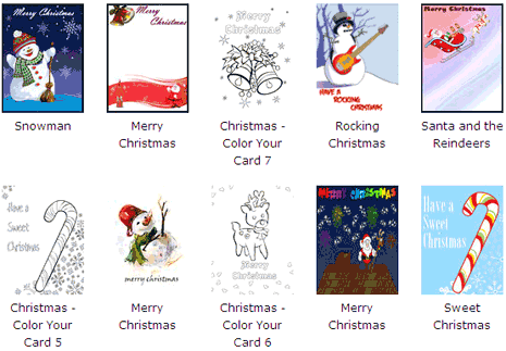 Click to select any Christmas card design as listed.: www.tothepc.com/archives/free-printable-christmas-cards-with-own-photo