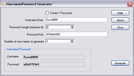 username-password-generator