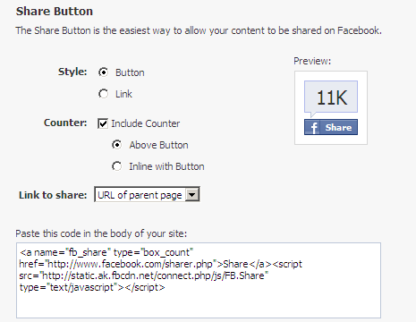 Facebook Like Button With Count