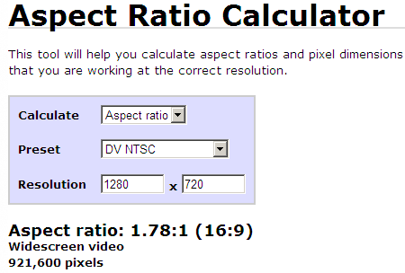 online-aspect-ratio-calculator