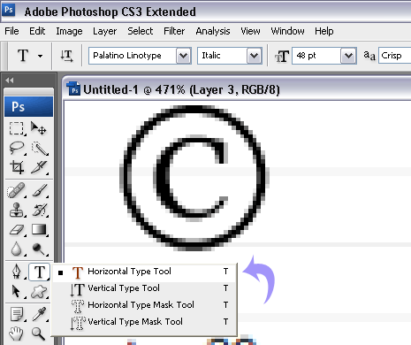 Add Copyright Registered Symbol To Photos In Photoshop