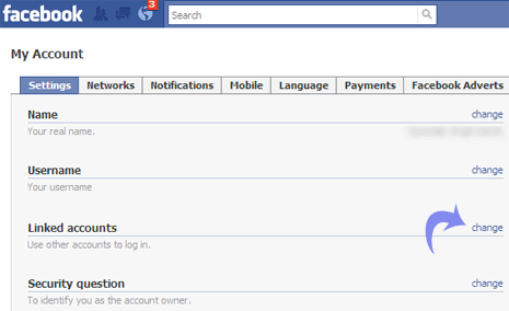 Link Google, Gmail, Yahoo accounts with Facebook account