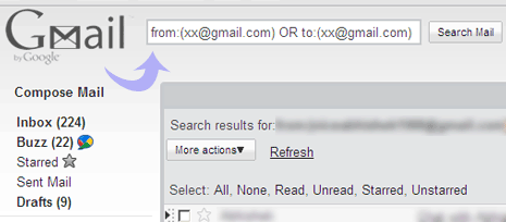 How do you sort by sender in Gmail?