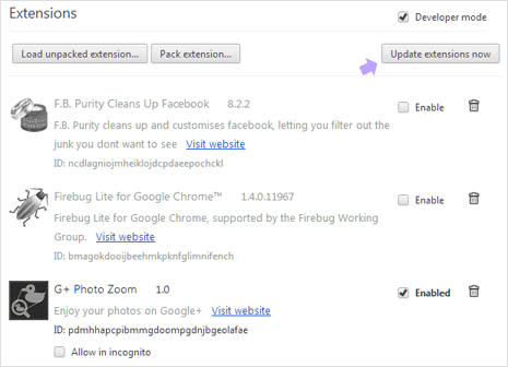 How to auto update Google Chrome extensions
