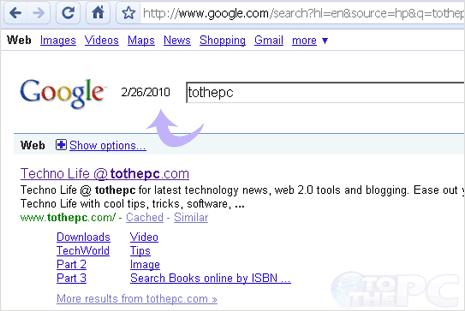 Display time & date on Google homepage logo