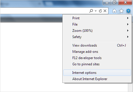 internet explorer setting options
