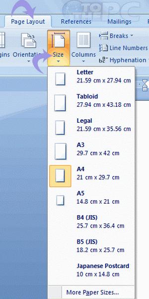 1 Microsoftgo To Www Bing Com: Change Paper Size Of Microsoft Word Document