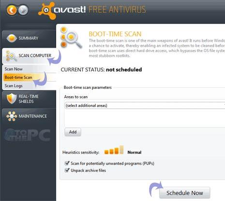 avast startup scan
