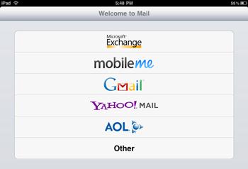 HTML 5 Yahoo mail for iPad