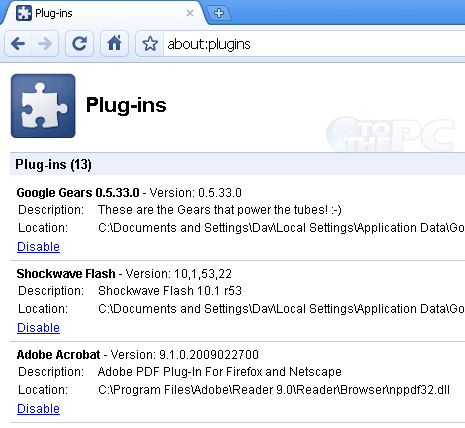 Disable Flash, Acrobat, Silverlight & Java Chrome plugins
