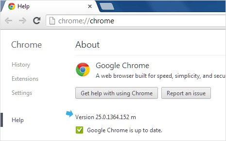 google-chrome-version-information