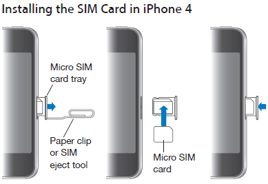 How to insert SIM card in iPhone 4, 3GS