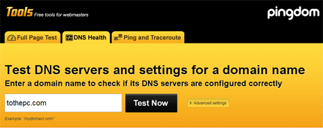 Check Dns Settings Of Domain Online