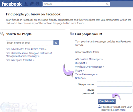 Facebook Add Picture to Comment http://www.tothepc.com/archives/add-skype-contacts-friends-to-facebook/
