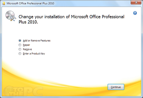 How to repair & remove MS Office 2010