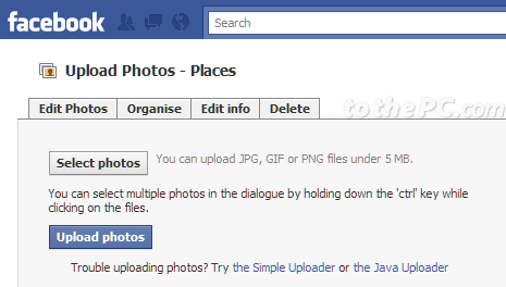 Number of photos in 'Mobile uploads' album: www.tothepc.com/archives/photo-upload-limit-on-facebook