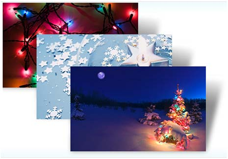 Скачать бесплатно Новогодние темы для Windows 7 и Windows Vista.