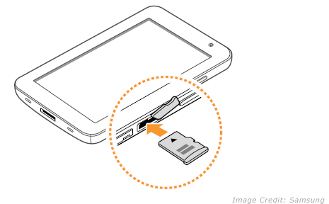 carte sd pour tablette Add & remove Memory card in Samsung Galaxy Tab