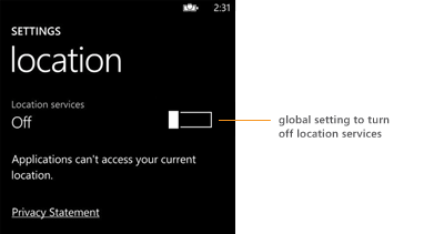Once You Disable Location Tracking Services On Your Windows Phone
