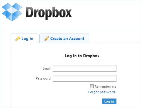 www.dropbox login
