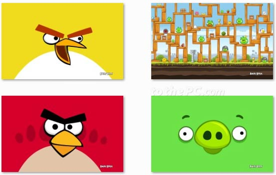 Download official Angry Birds theme for Windows 7