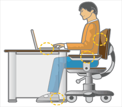 Proper Body Posture To Sit In Front Of Computer