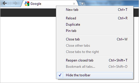 Search a website with google chrome