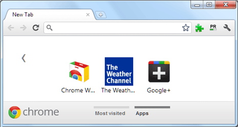 Group apps in seperate tabs or folders in Google Chrome