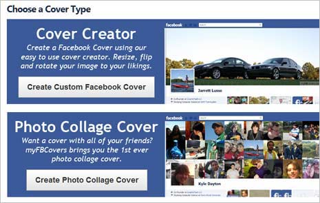 Create collage style cover photo for Facebook timelime
