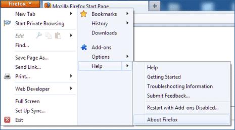 Mozilla Firefox Сброс Настроек