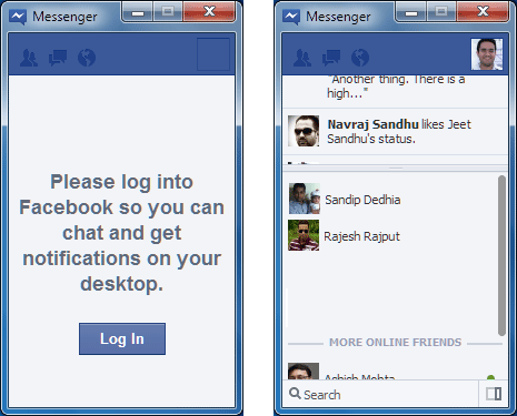 Facebook chat application for pc  Facebook download for PC
