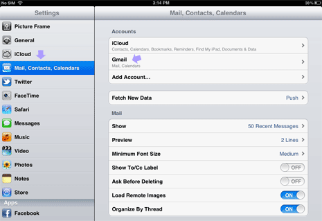 Delete remove email accounts from ipad ccuart Image collections