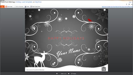 Create holidays newsletter animated cards in ms office 2 toneelgroepblik Images