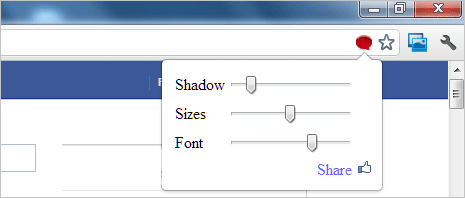 Change font & window size of Facebook chat box