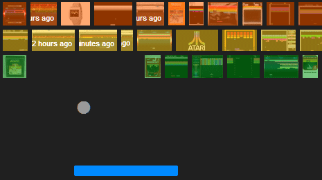 play atari breakout game on google images website