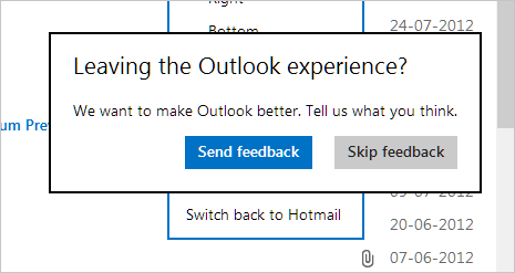Switch back new Outlook email to old Hotmail ID