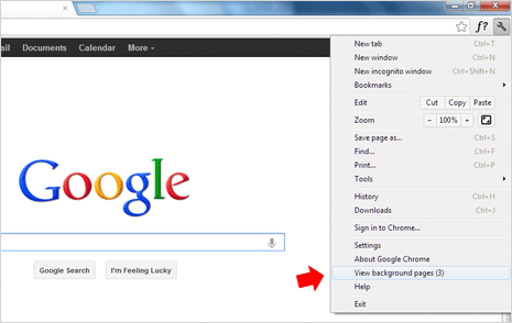 view stop background apps in google chrome