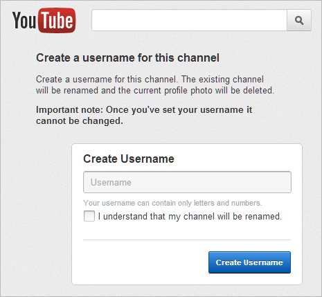 How to assign Username URL to new Youtube channel
