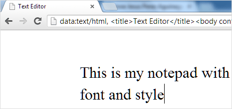 chrome-as-notepad-style