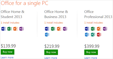 office 2013 editions