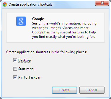 chrome-application-shortcut-options