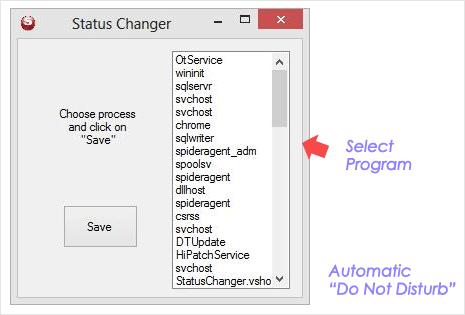 automatic skype status changer program