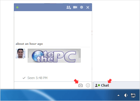 send and share photos in facebook chat box