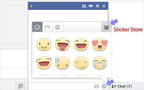 send sticker images in facebook chat